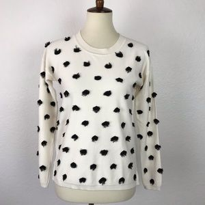 Banana Republic Fringe Dot Sweatshirt T407